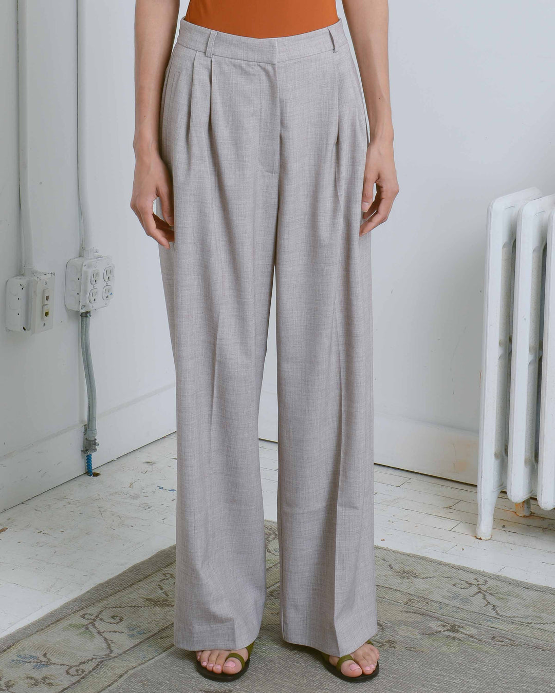 Taupe Wide Leg Trousers