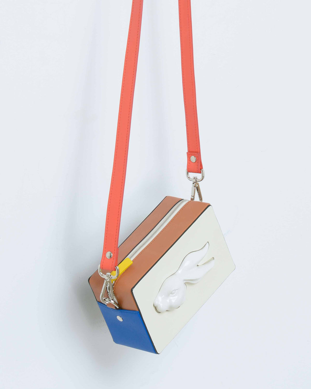 Multicolored Rectangular Rabbit Bag