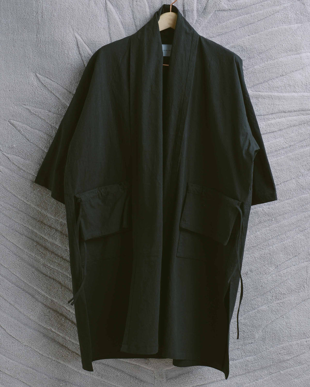 Black Stretch Poplin Moneybag Jacket