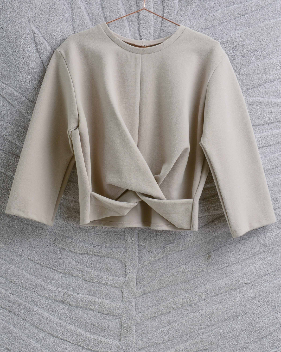 Cream Knot Top