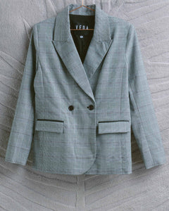 Grey Plaid Viviane Blazer