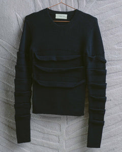 Navy Bandage Sweater