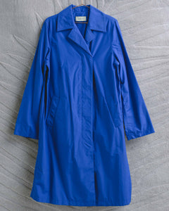Cobalt Blue Long Nylon Coat