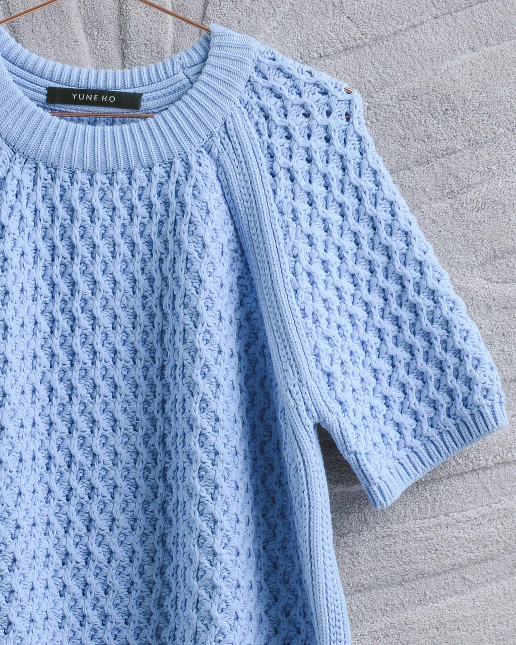Periwinkle Shortsleeve Sweater
