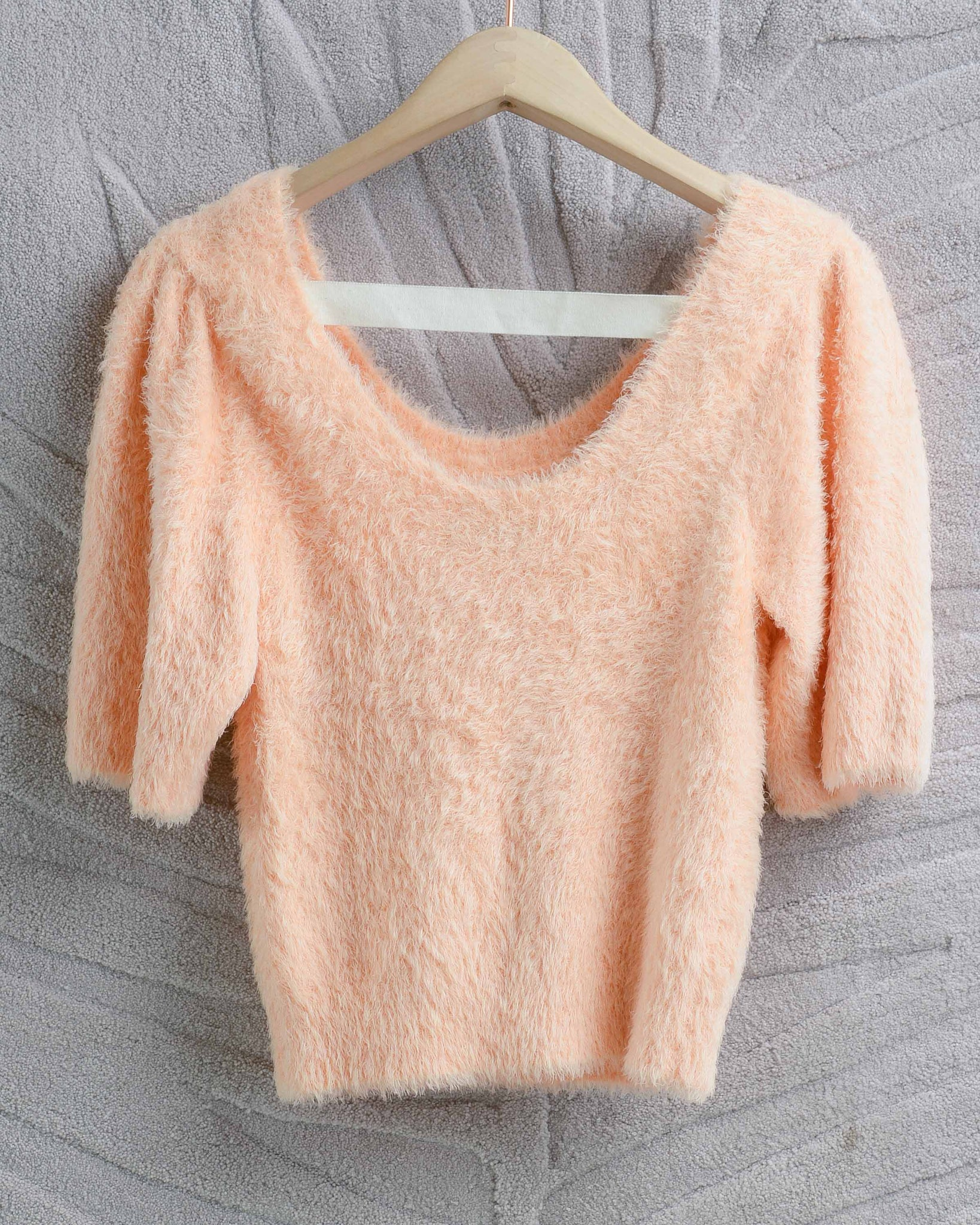 Peach Anna So Fluffy Sweater