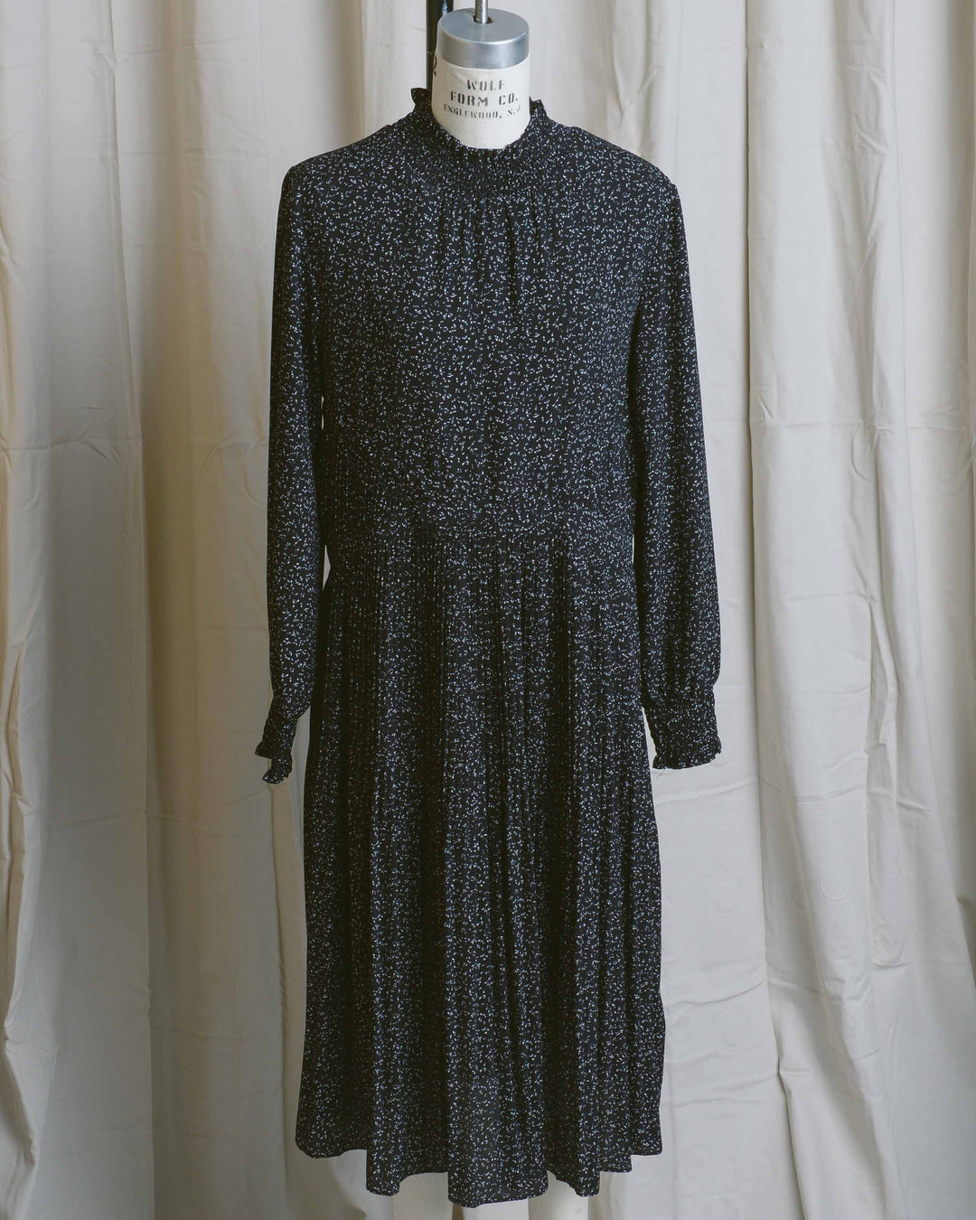 Speckled Smock Pleated Dress