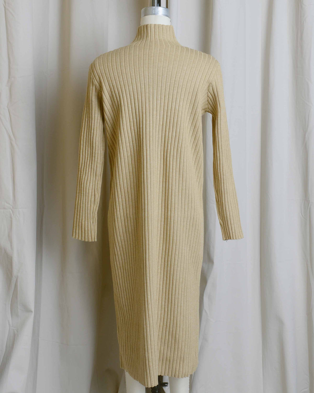 Camel Ribbed Dress