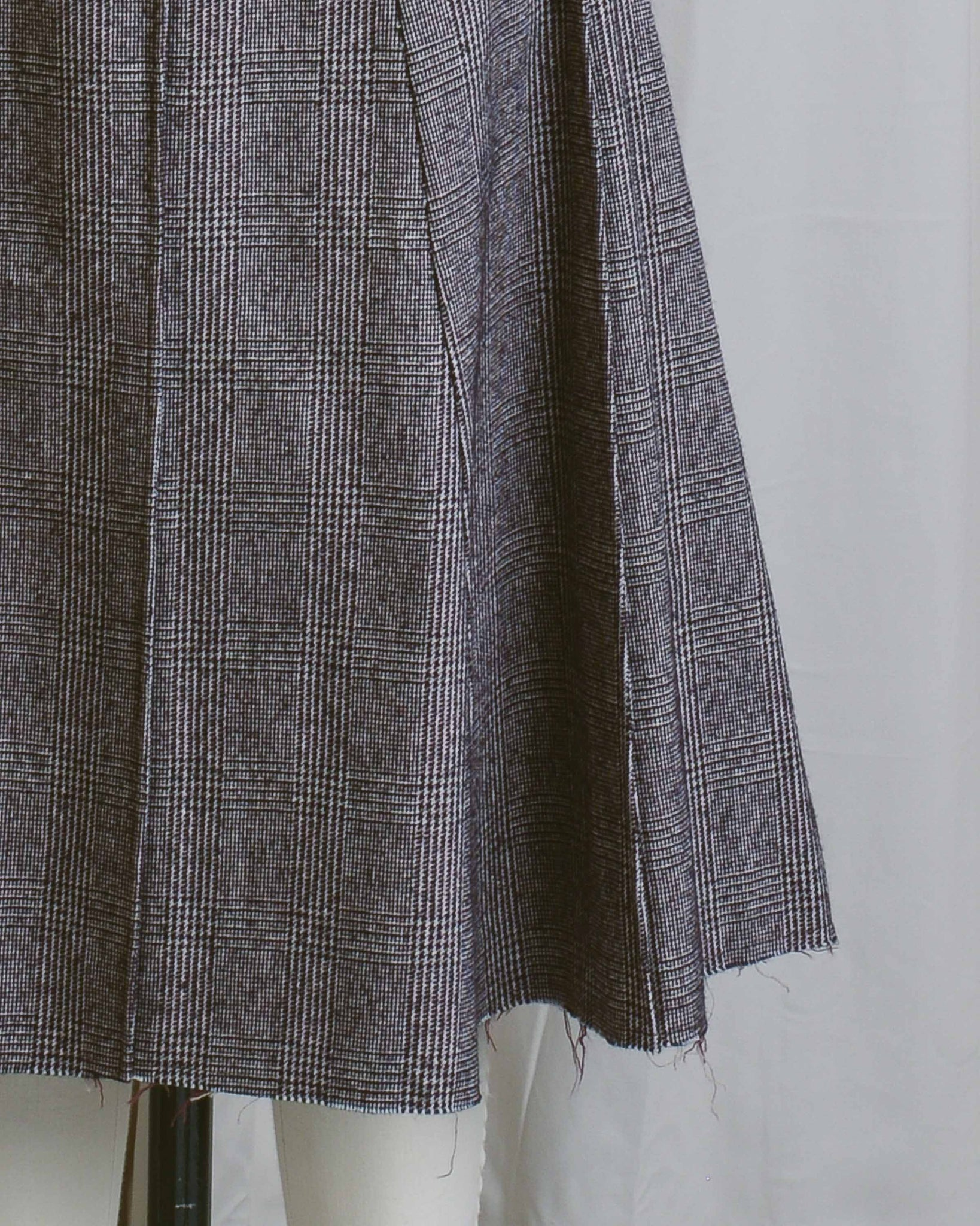 Raw Hem Tweed Skirt