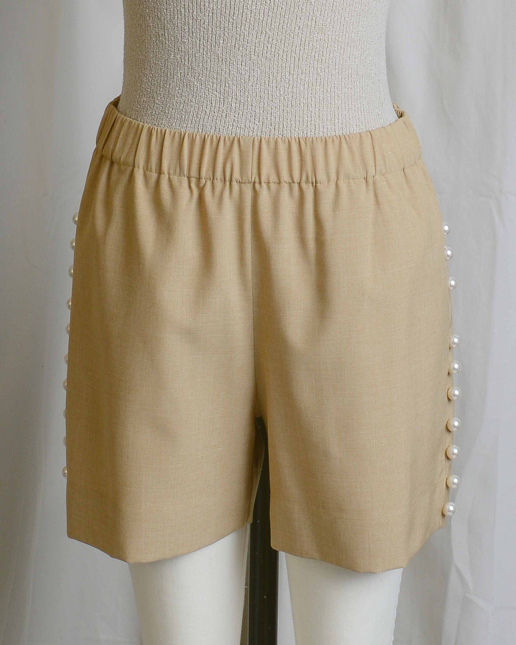 Camel Pearl Pull On Shorts