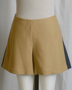 Wool Color Block Shorts