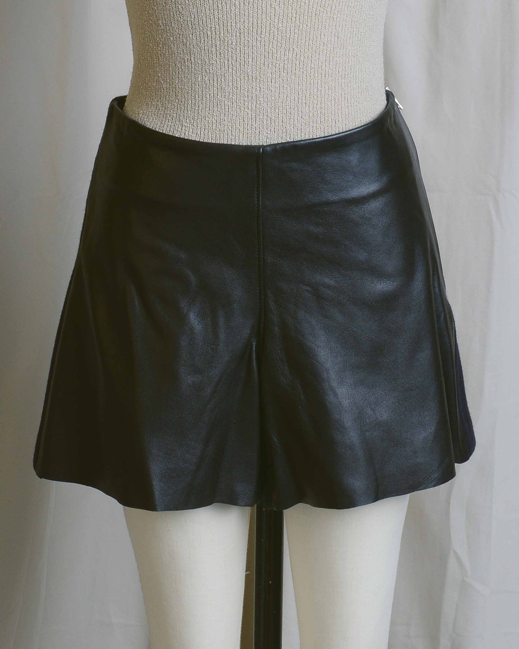Leather & Wool Shorts