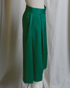 Emerald Green Cotton Culottes