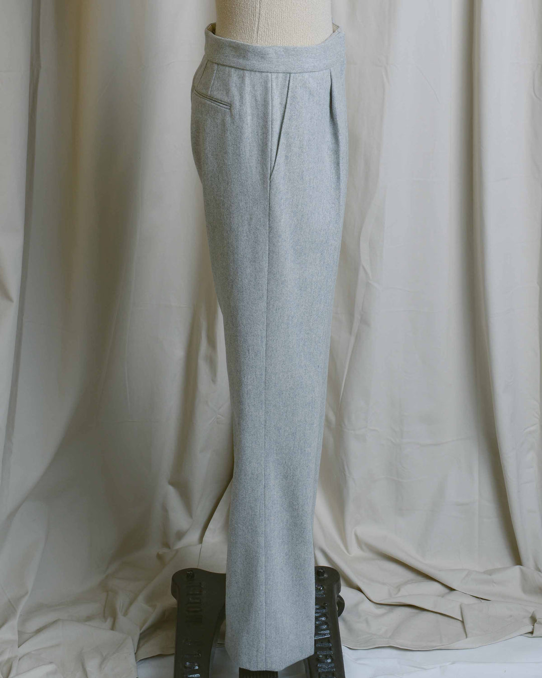 Grey Wool Tailored Trousers