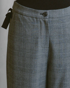 Grey Check Boyfriend Trousers
