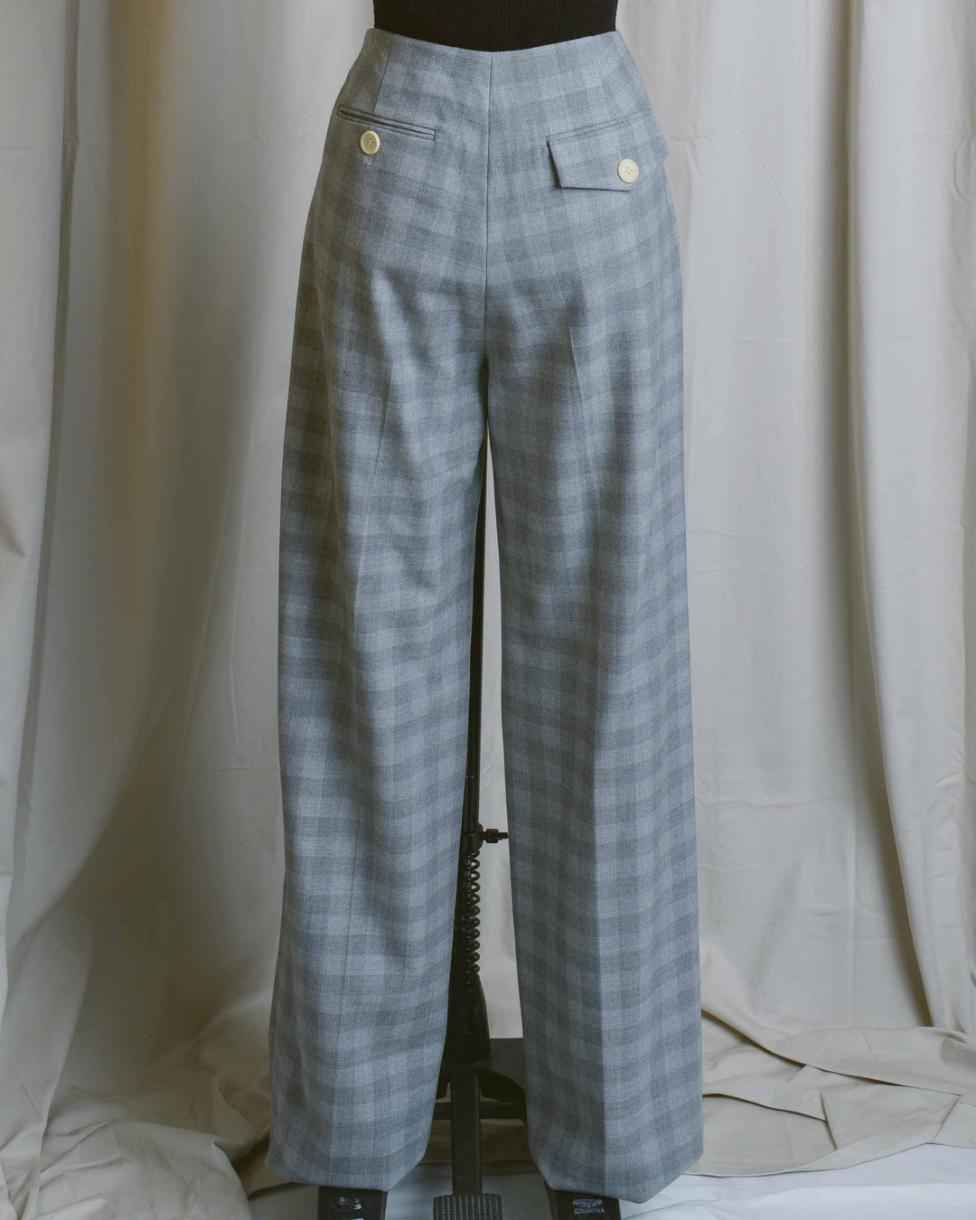 Grey Check High Waist Chloe Pant