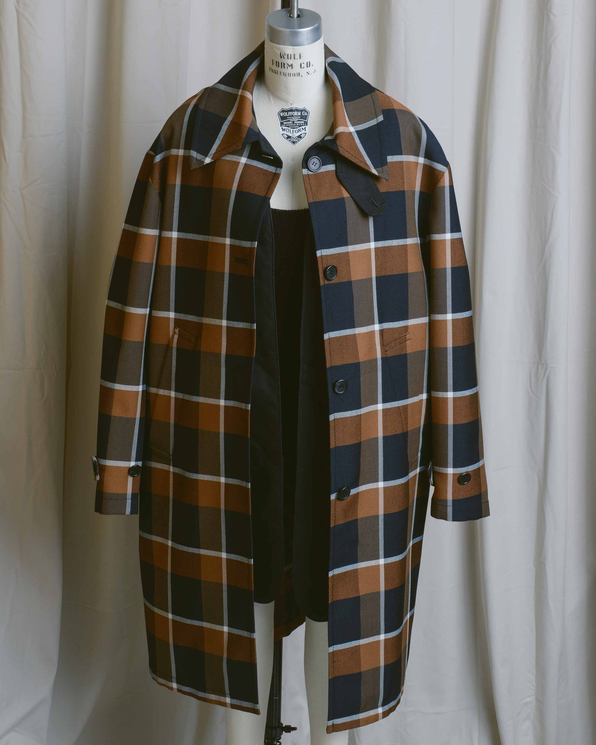 Damien Mac Check Coat with Removable Vest