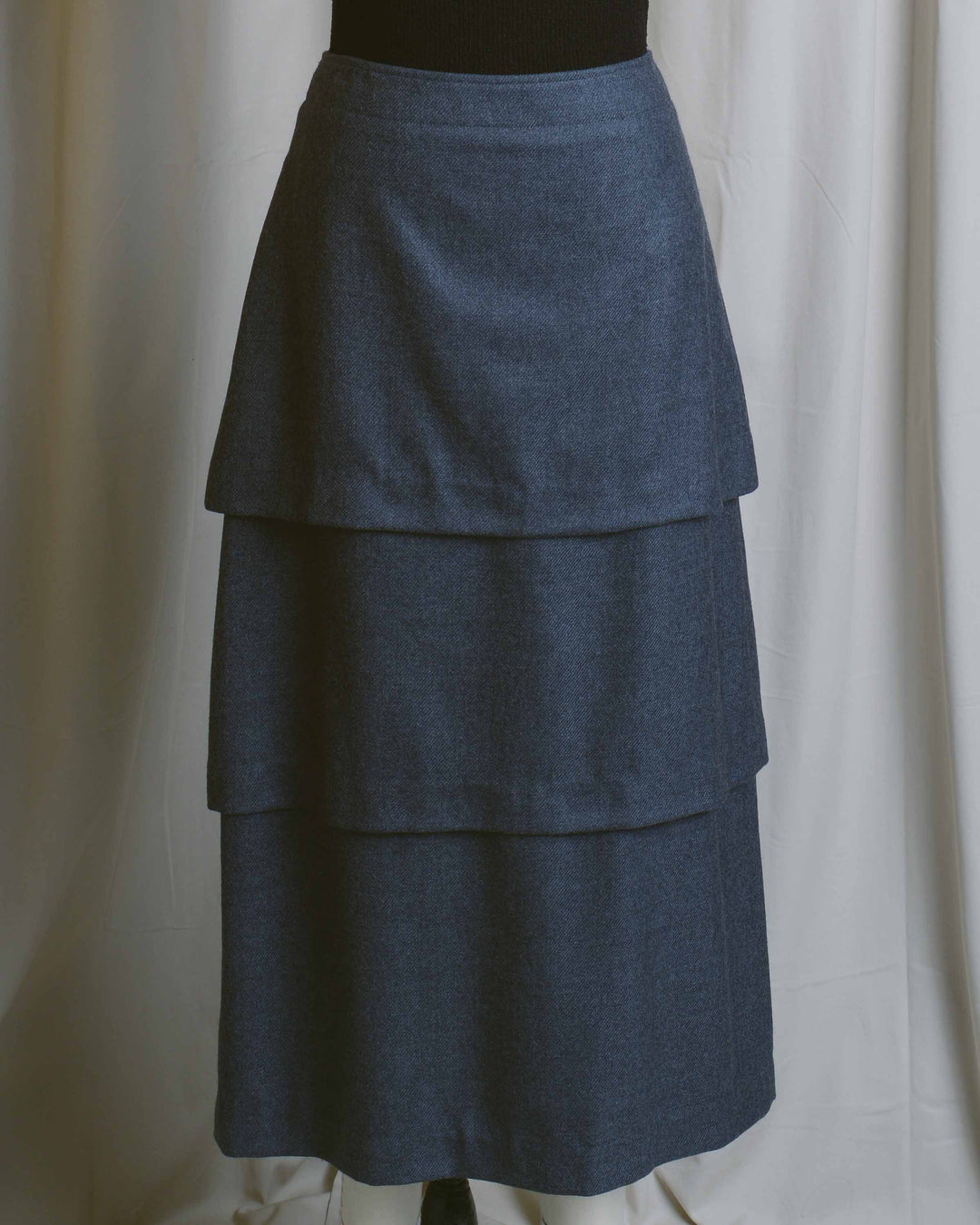 Charcoal Tiered Skirt