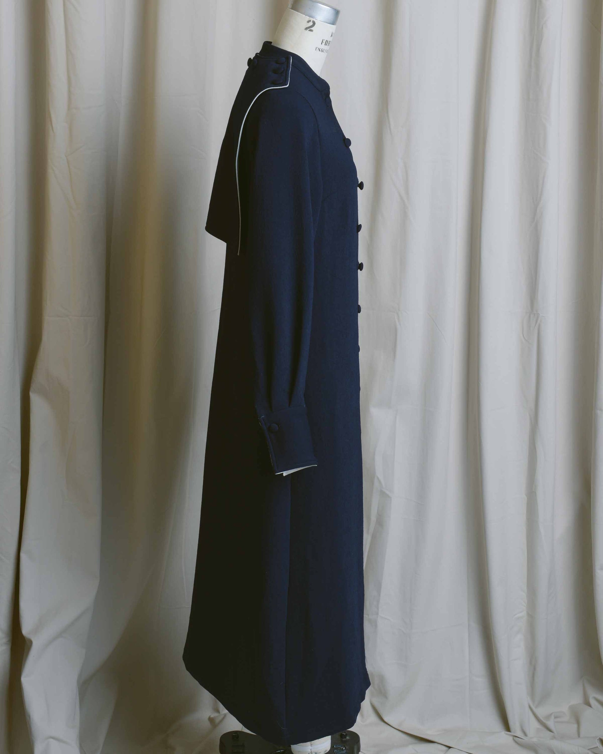 Navy Button Front Sailor Dress