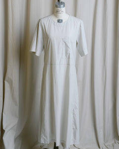 Cotton Apron Shirt Dress