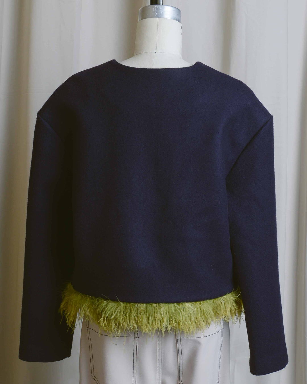 Eggplant Feather Boxy Trim Top