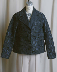 Wool Jacquard Boxy Jacket