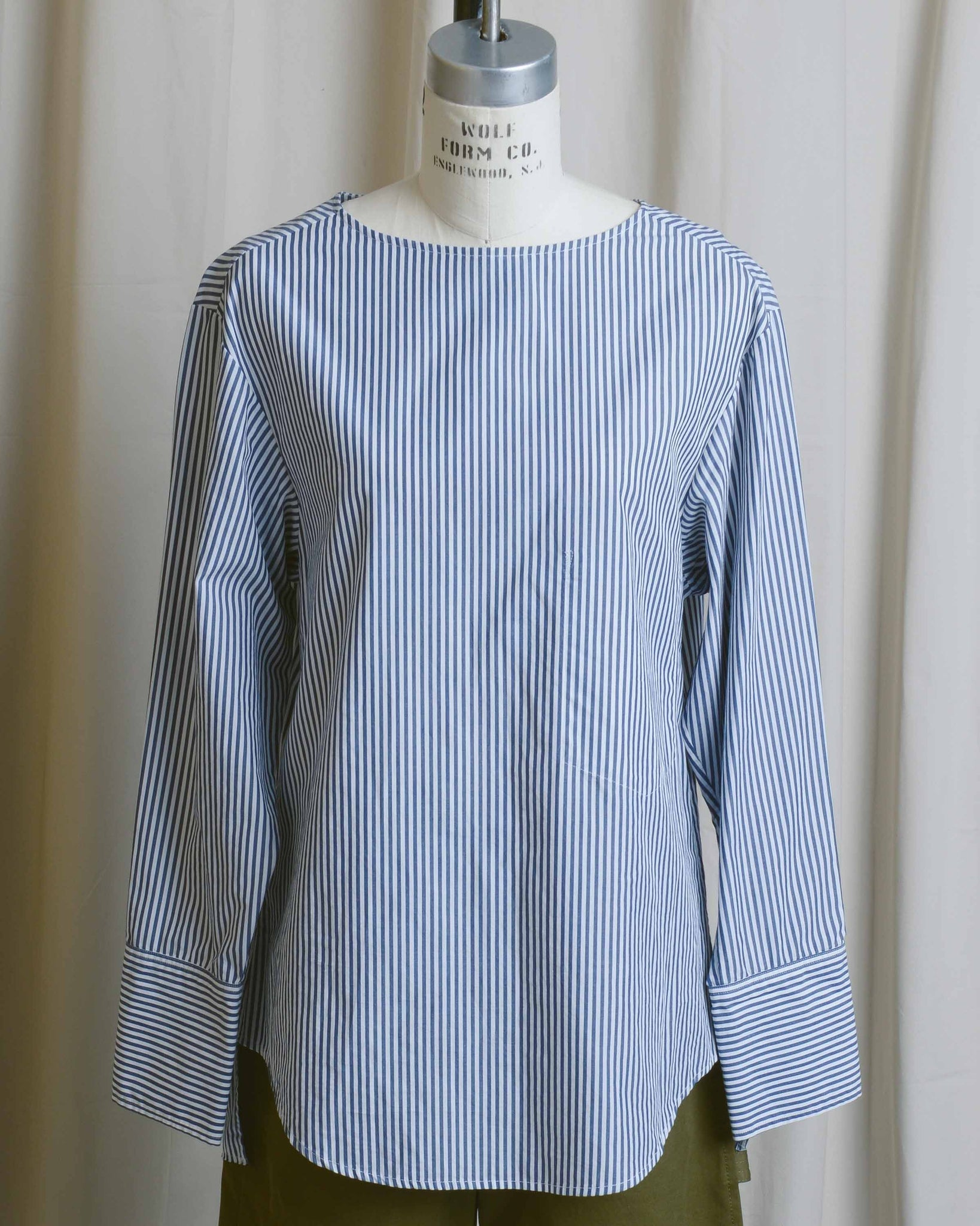 Tie Back Stripe Blouse