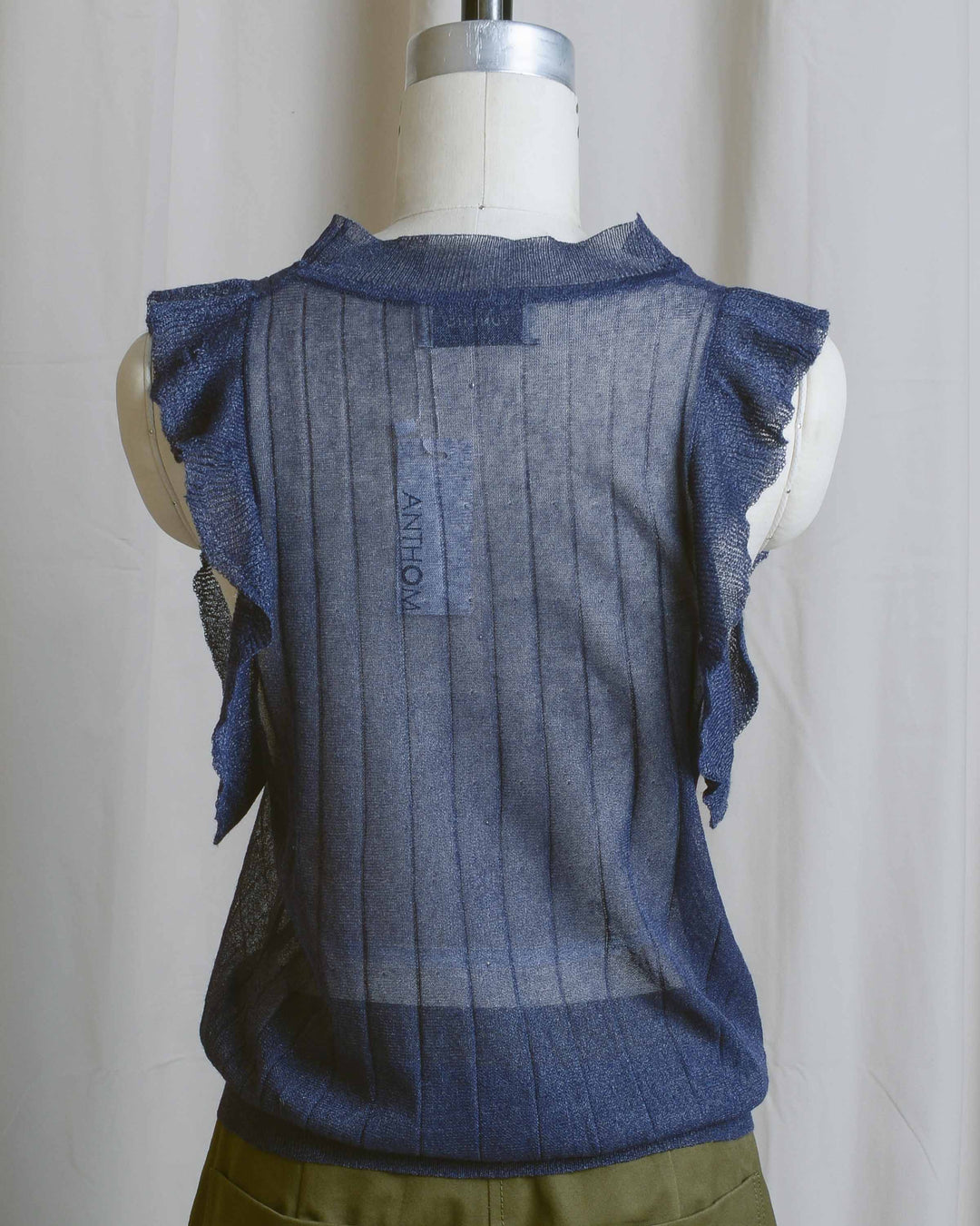 Sheer Navy Winona Top