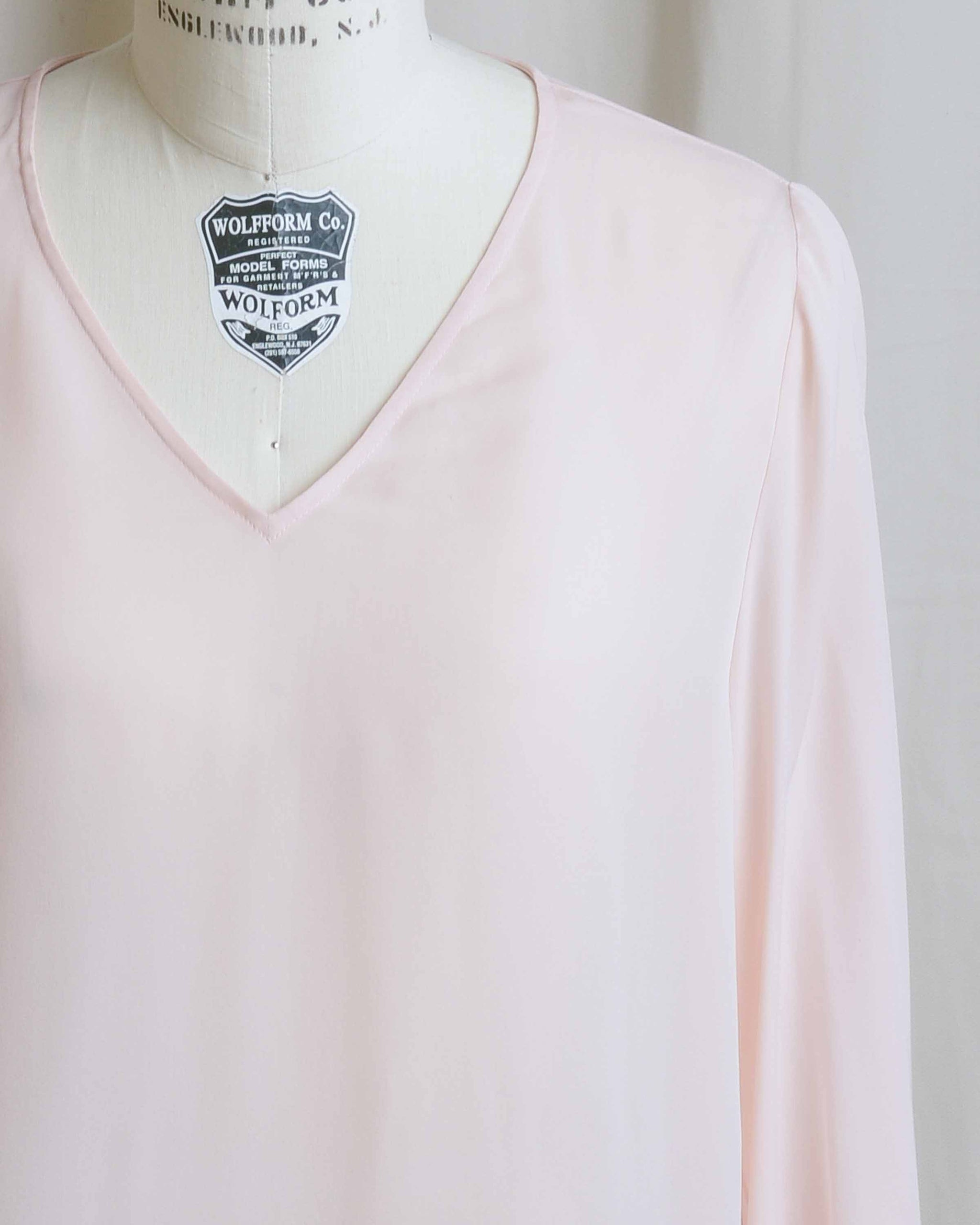Pale Pink Silk Blouse