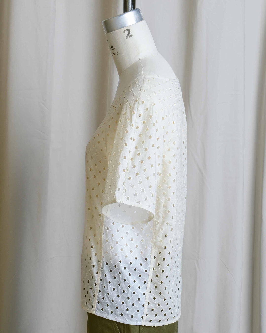 Ivory Cotton Eyelet Top