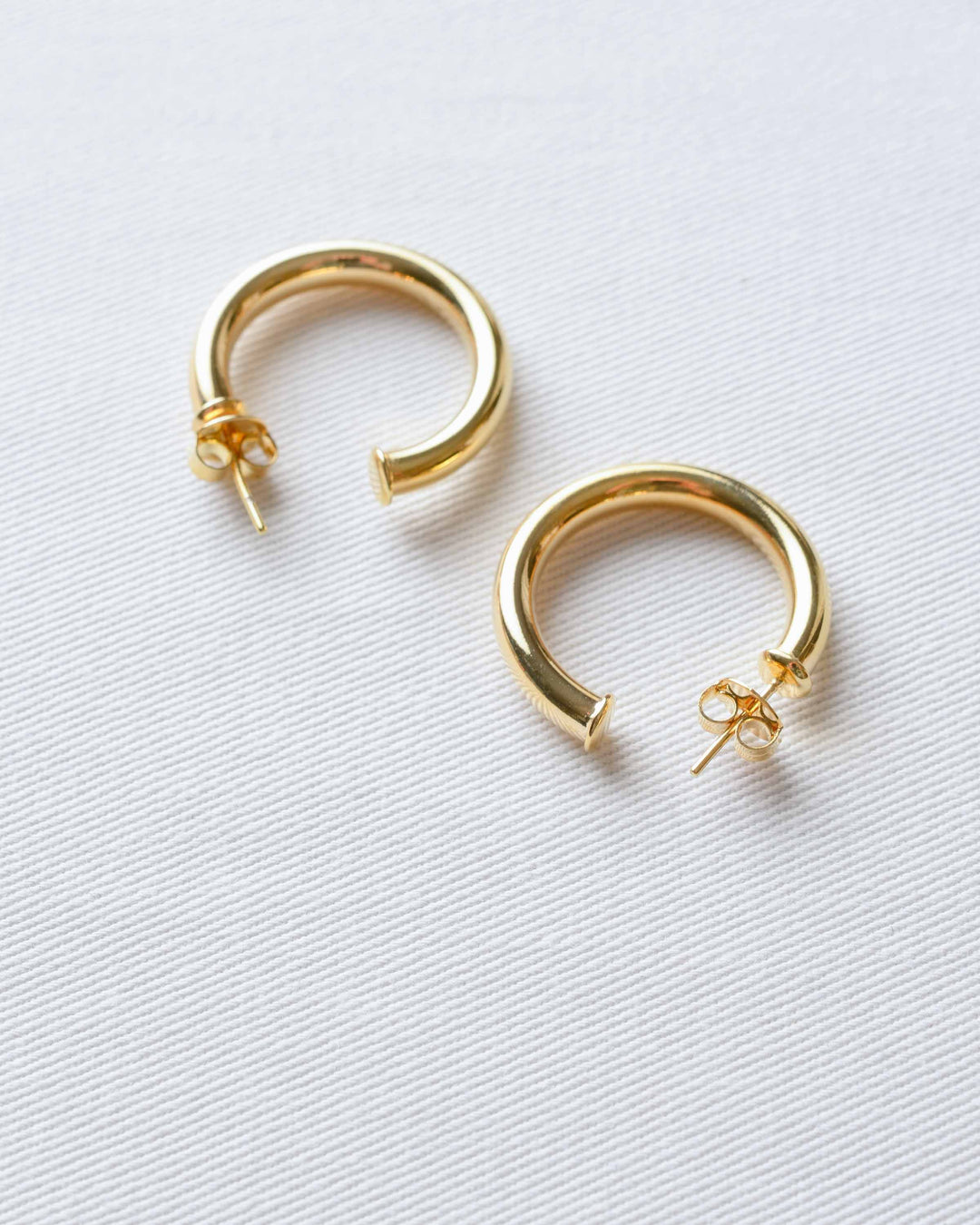 Medium Gold Thick Hoops