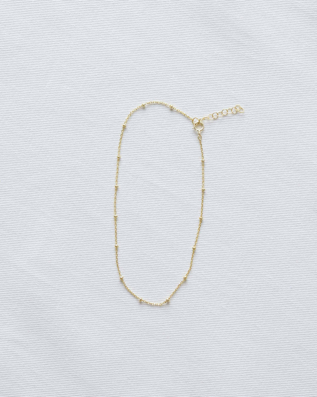 Small Gold Bead Chain Necklace