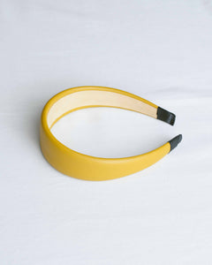 Mustard Faux Leather Wide Headband