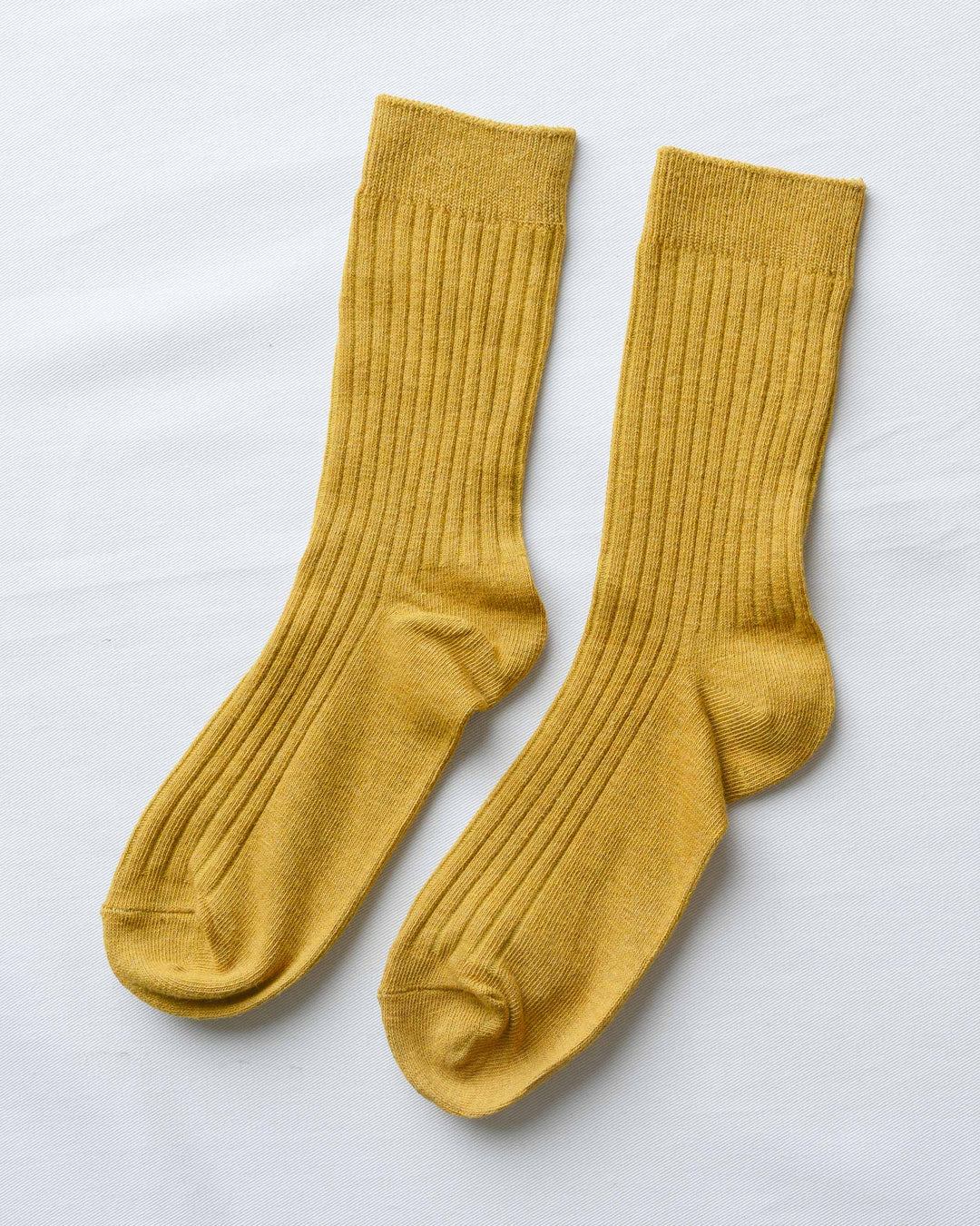 Mustard Ribbed Socks