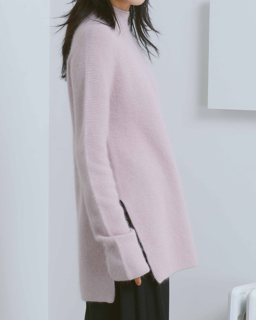 Pink Whole Garment Pullover