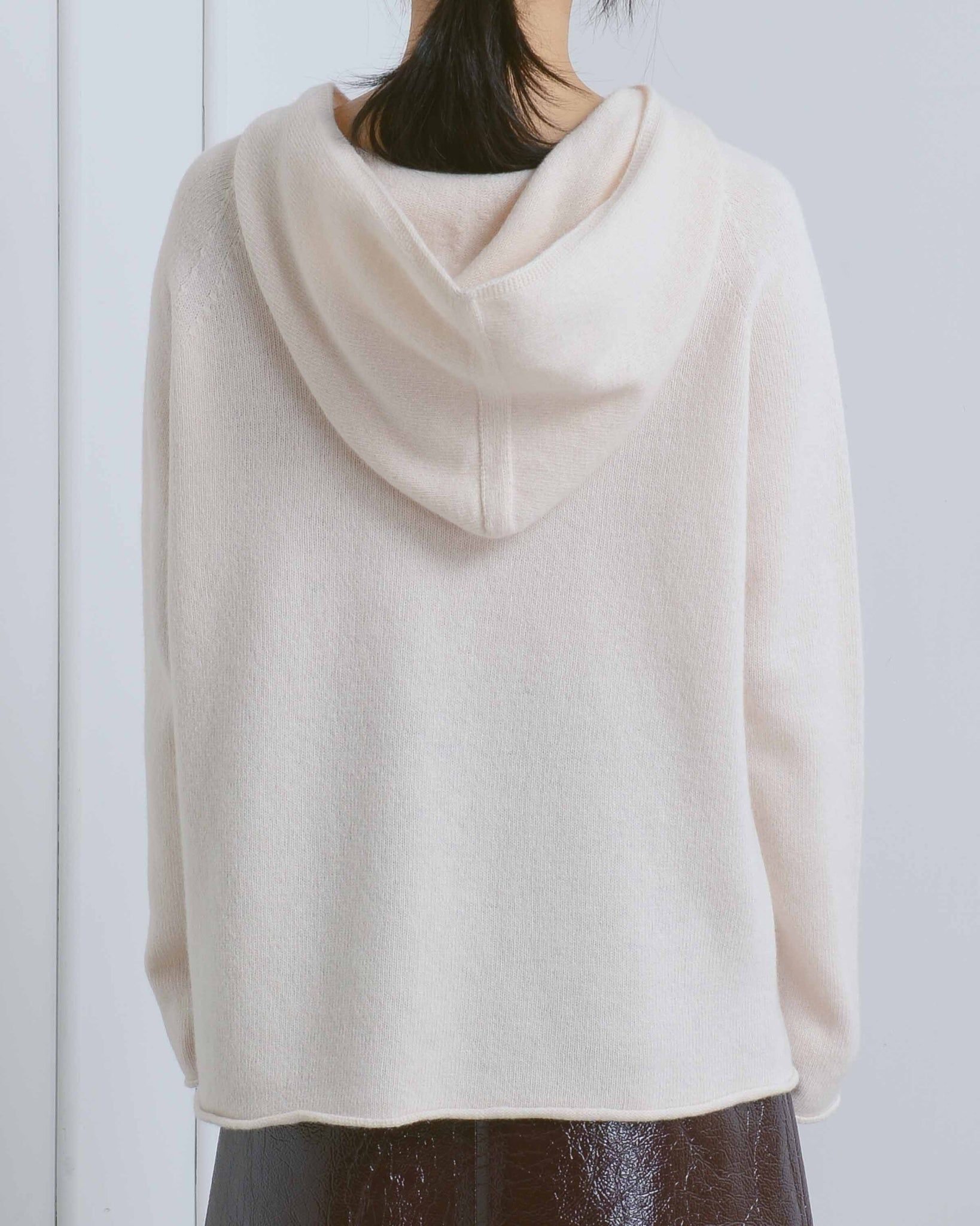 Ivory Hooded Sweater