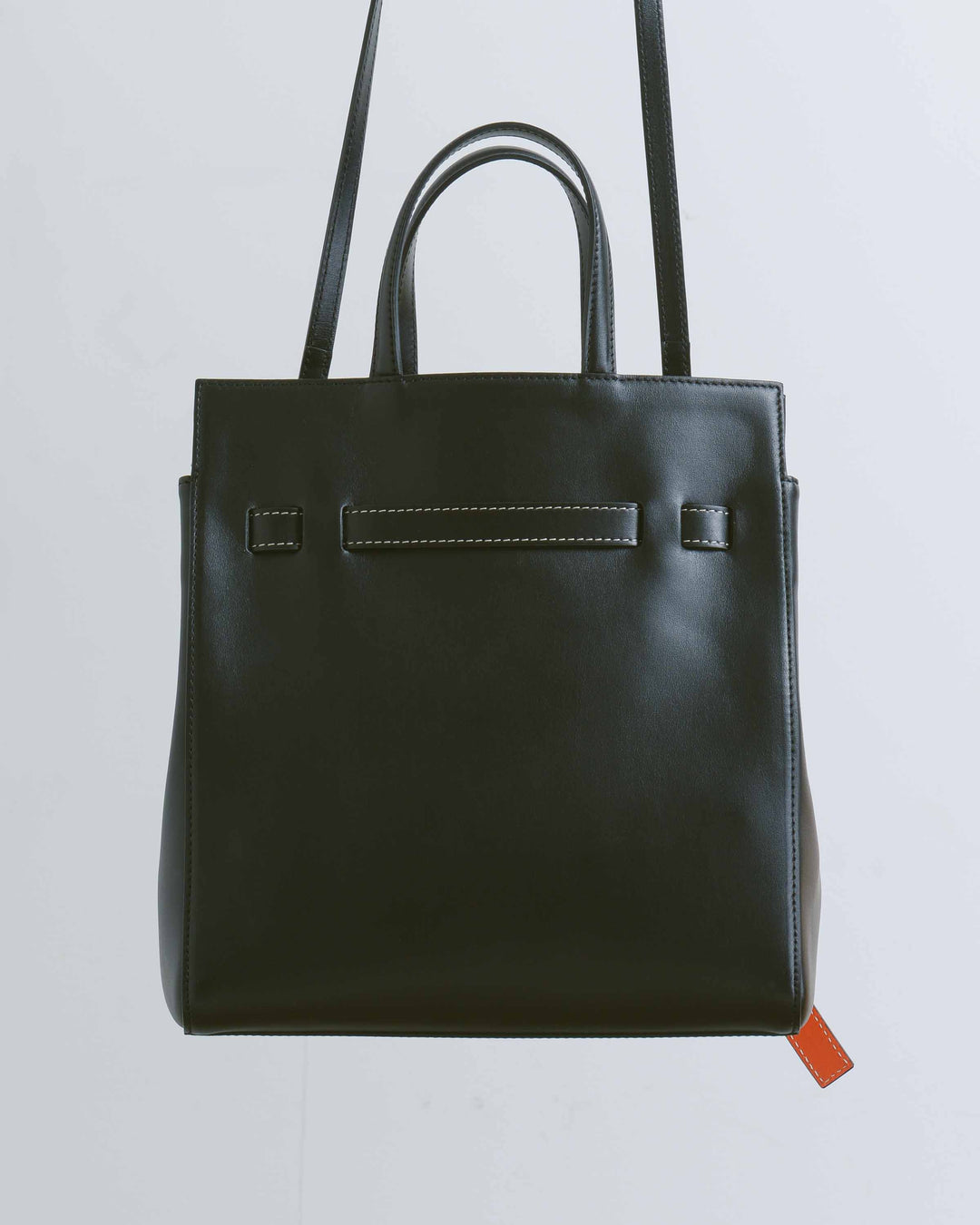 Black Belted Mini Tote