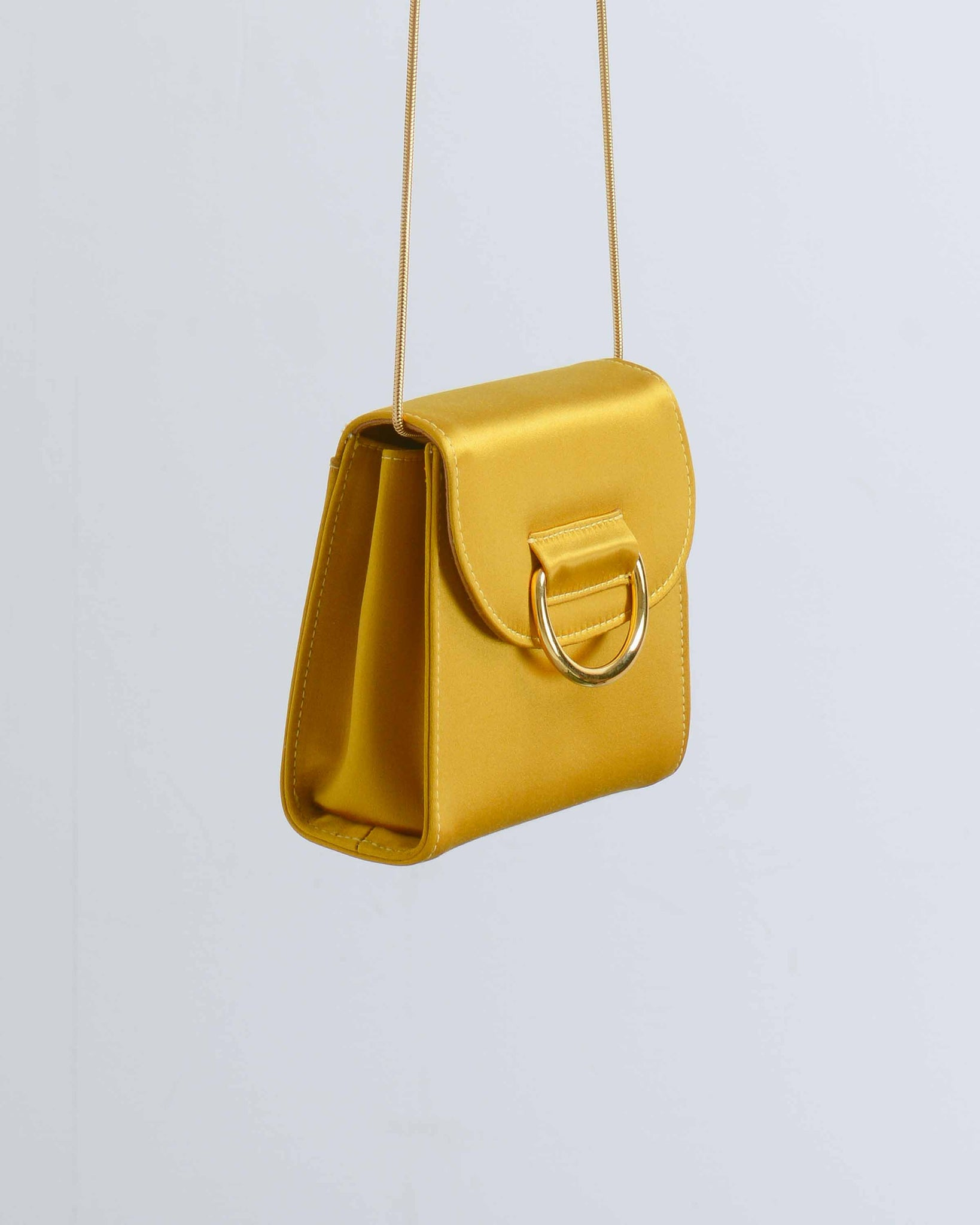 Gold Satin Tiny Box Bag