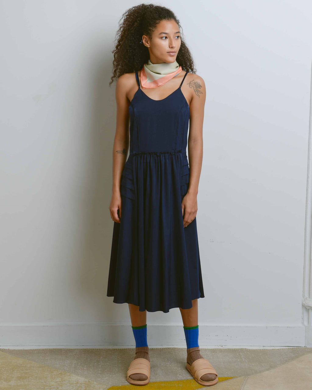 Navy Camisole Dress