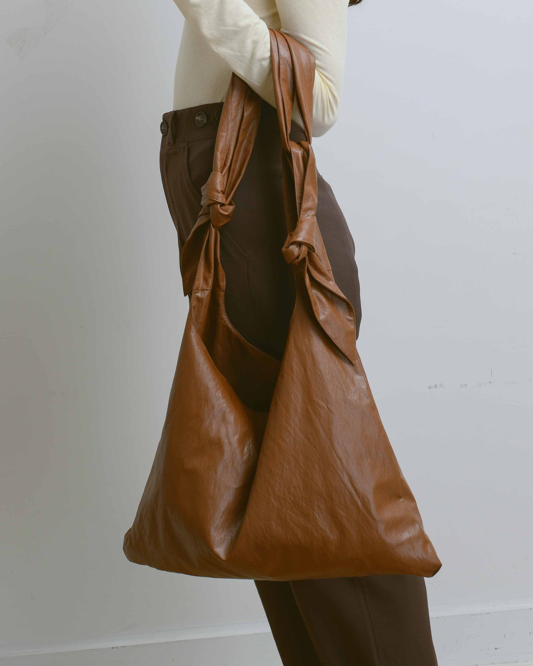Light Brown Faux Leather Ollie Bag