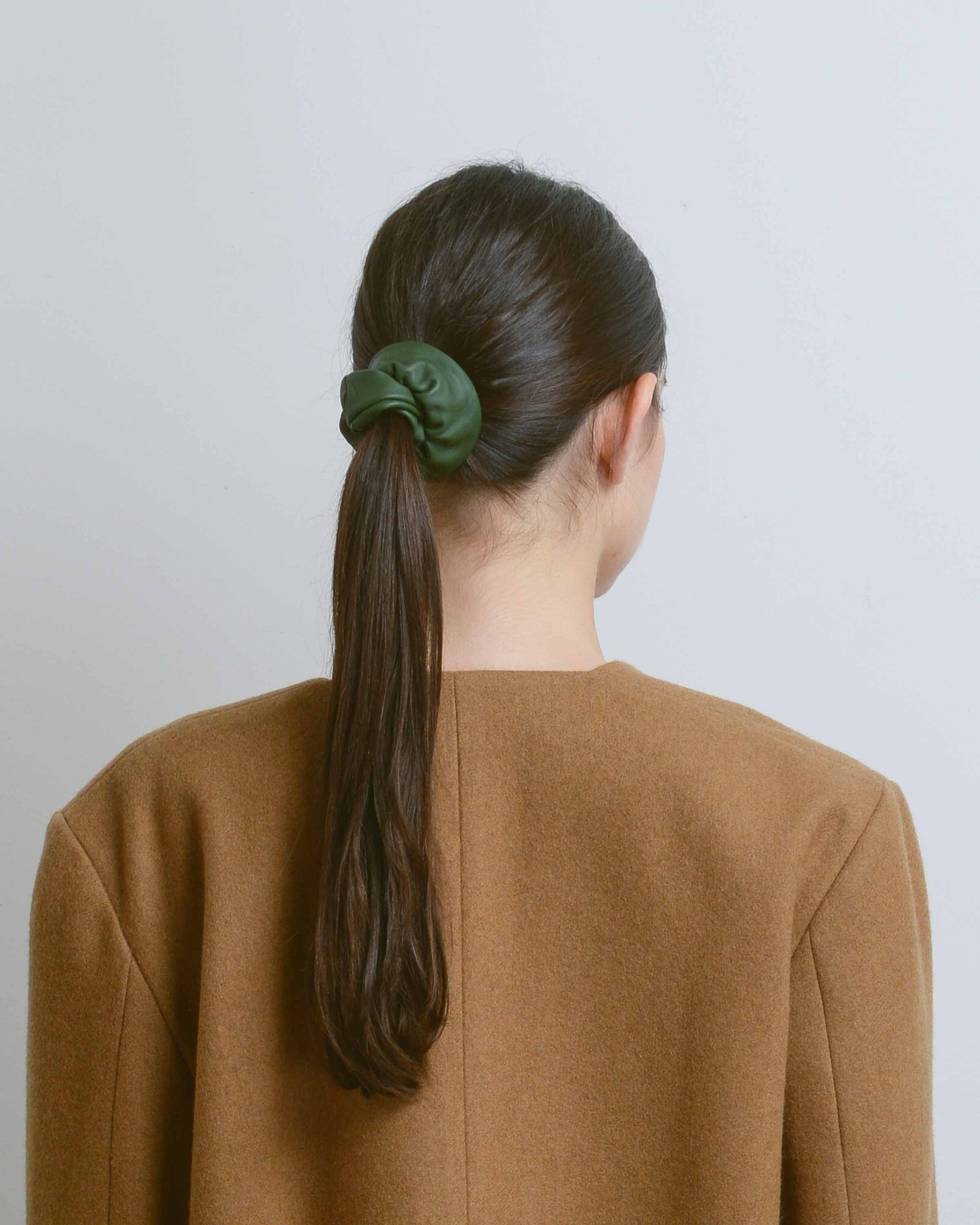 Forest Leather Scrunchie