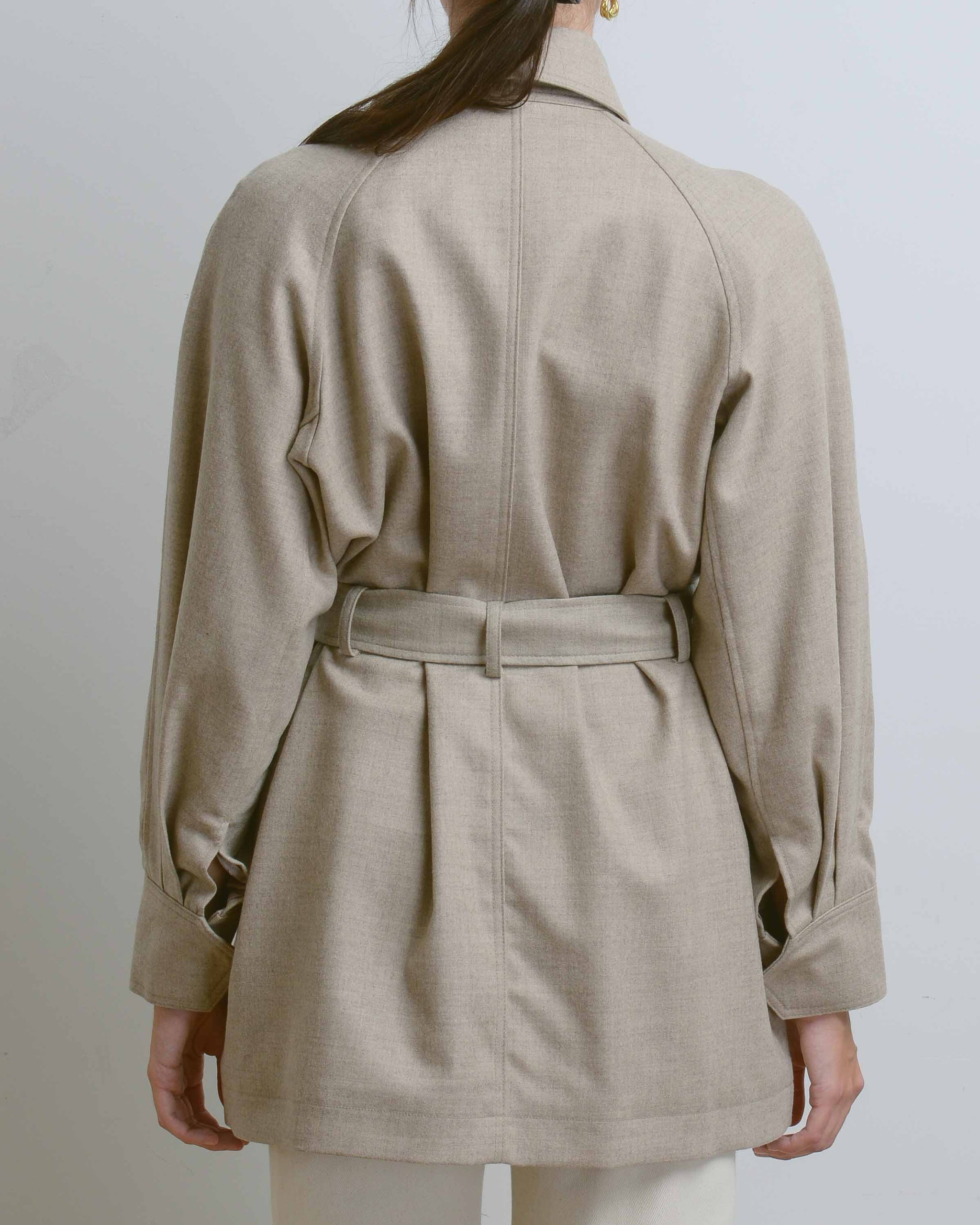 Beige Pocket Jumper