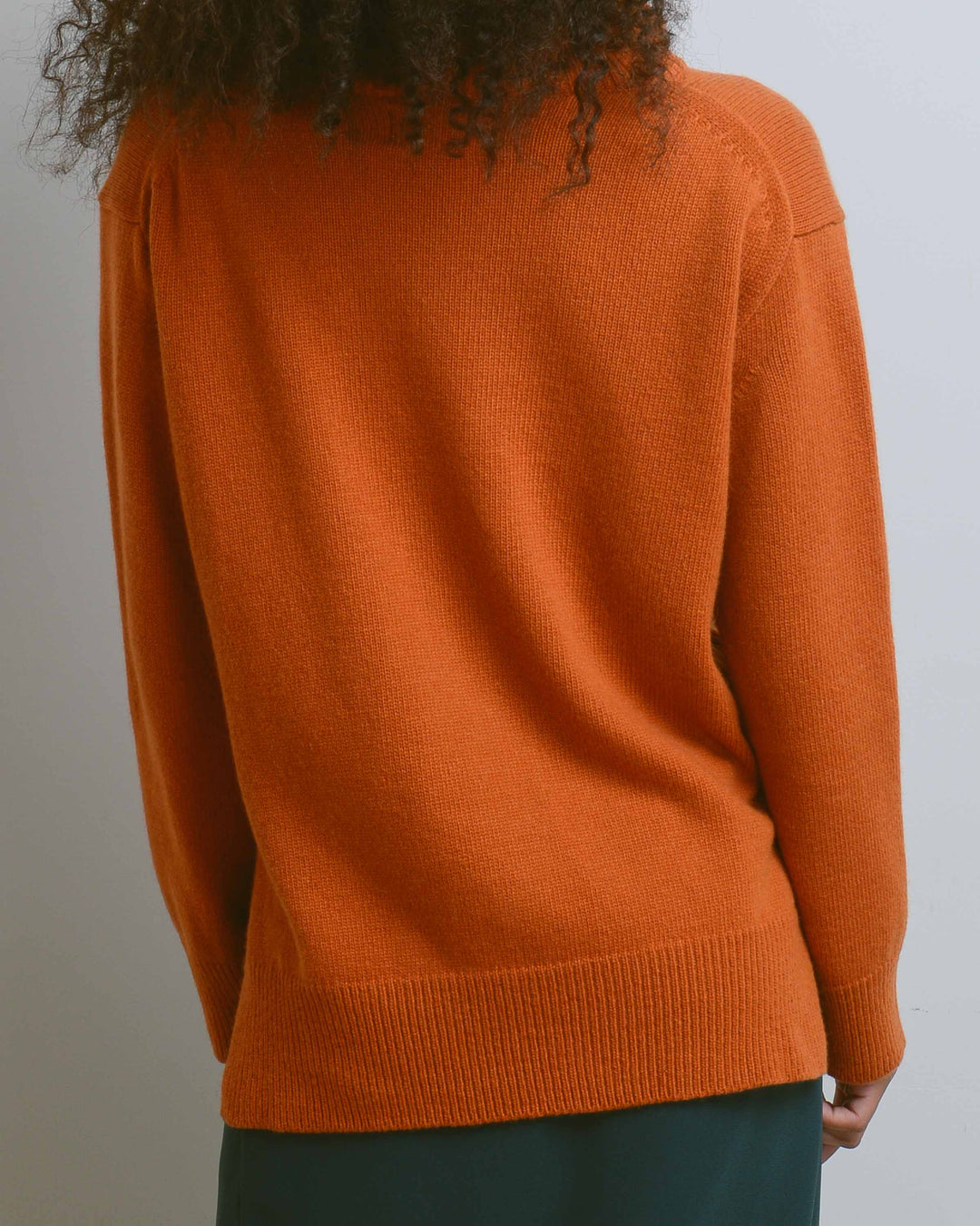 Orange Turtle Neck Knit Top
