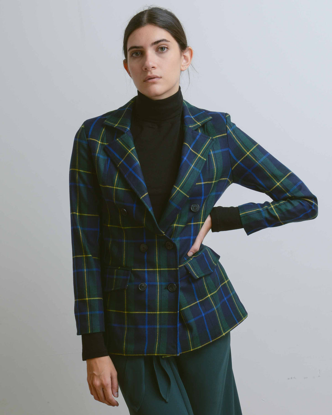 Green Wool Double Breasted Jacket