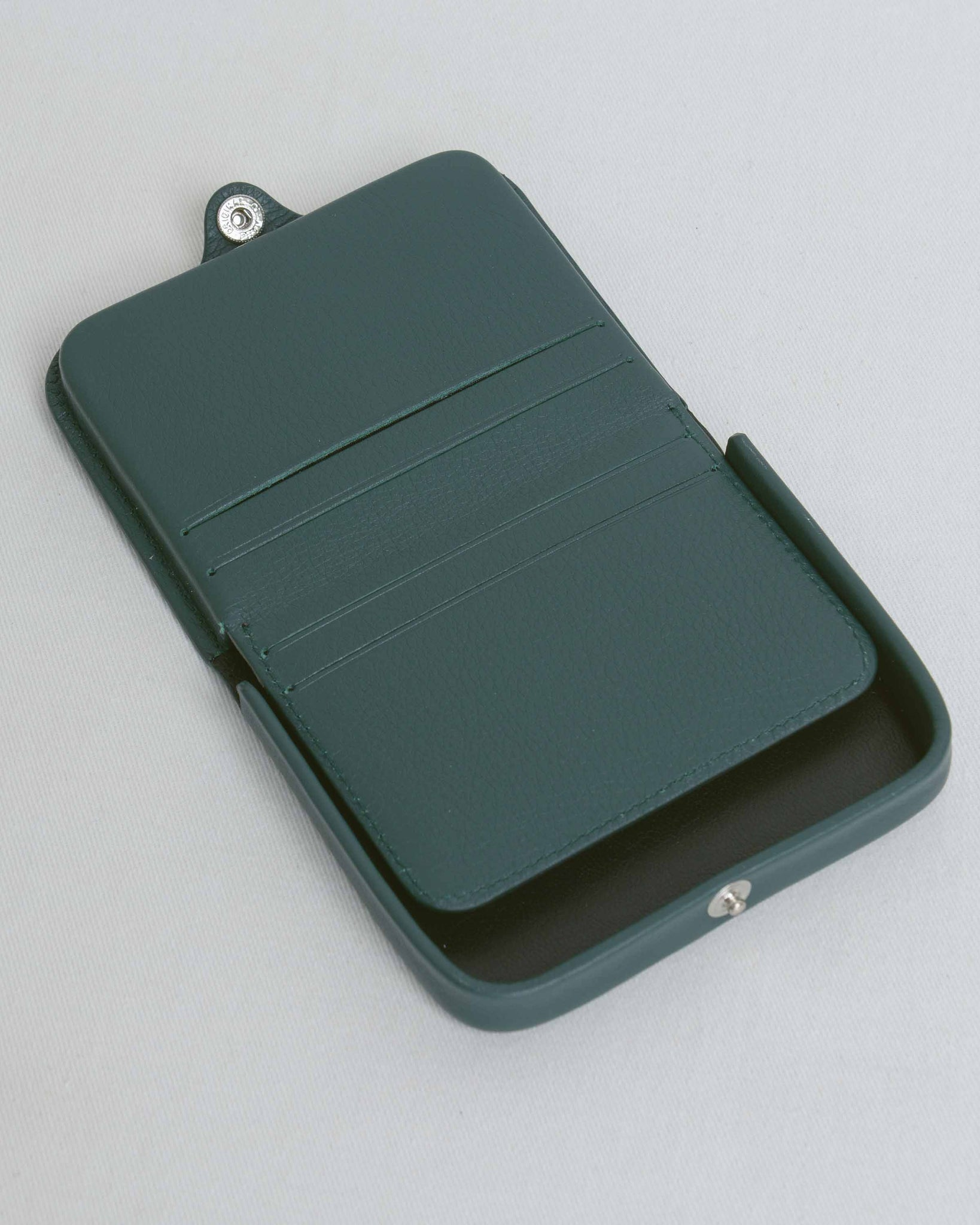 Forest Green Card and Coin Holder