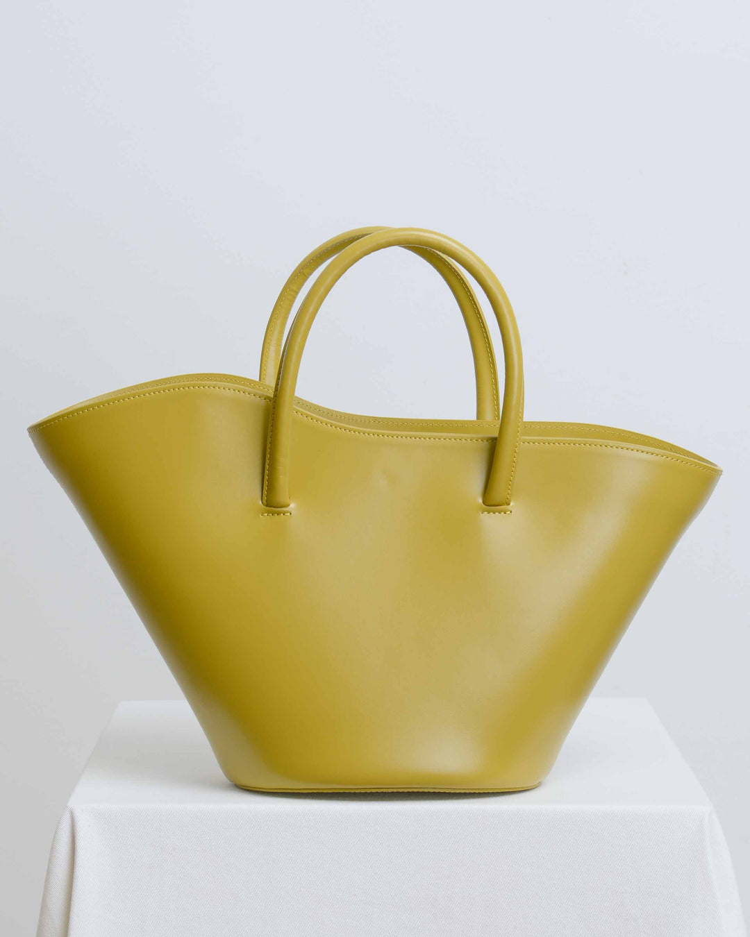 Olive Small Open Tulip Tote