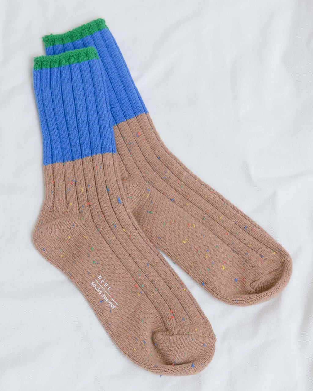 Tan Colorblock Socks