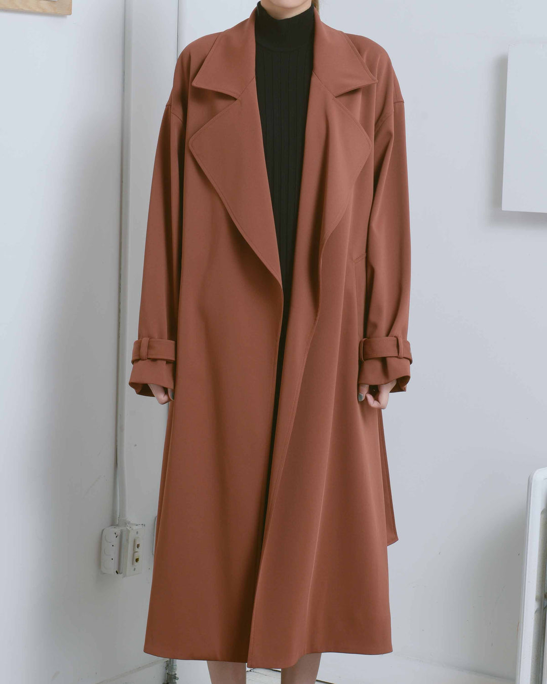 Brown Oversized Trench Coat