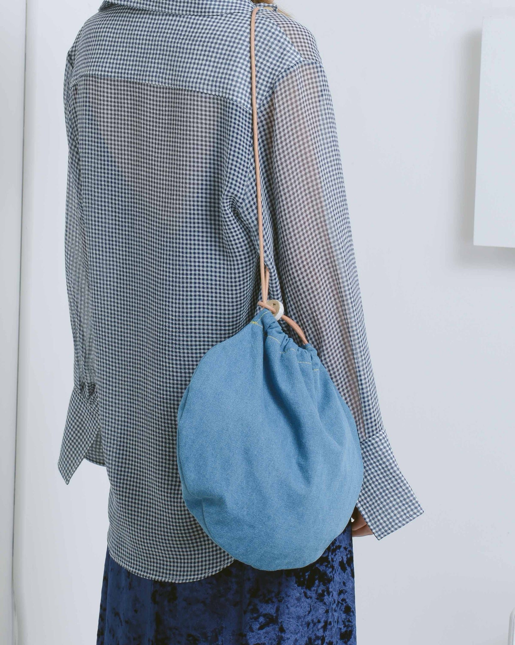 Denim Circle Tote