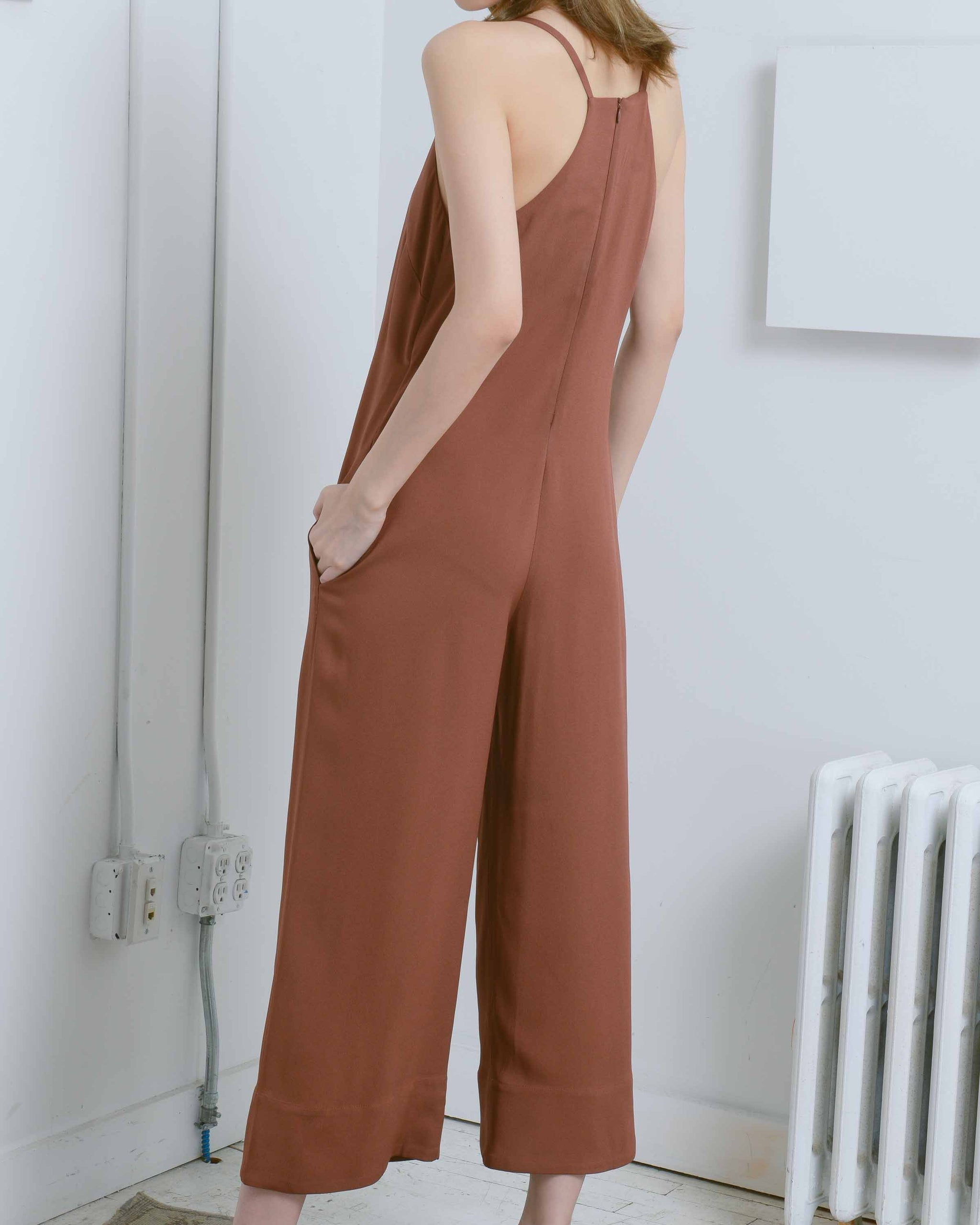 Cropped Strap Jumpsuit
