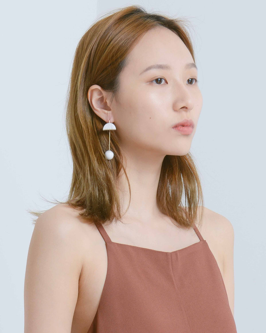 White Pin Earring